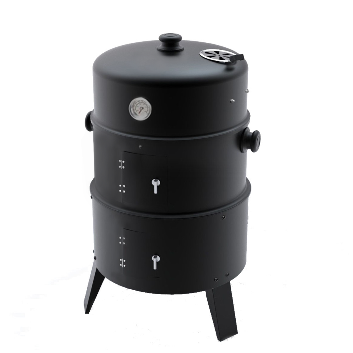 upright outdoor bbq smoker charcoal barbecue grill garden cooker patio drum oven ebay. Black Bedroom Furniture Sets. Home Design Ideas
