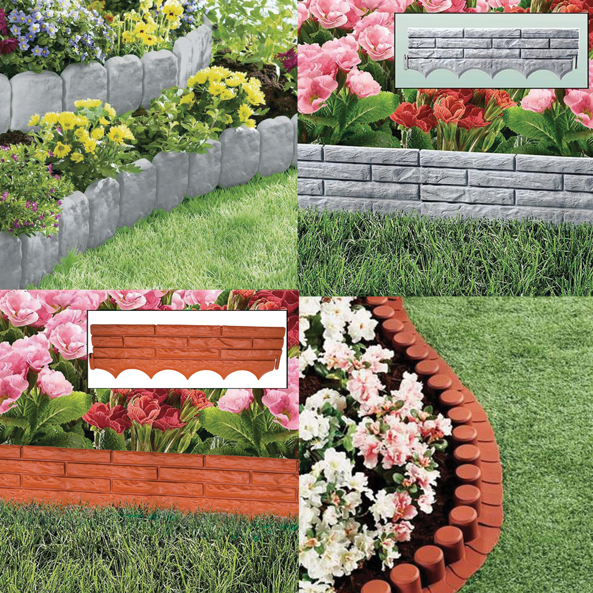Plastic Flower Bed Edging
