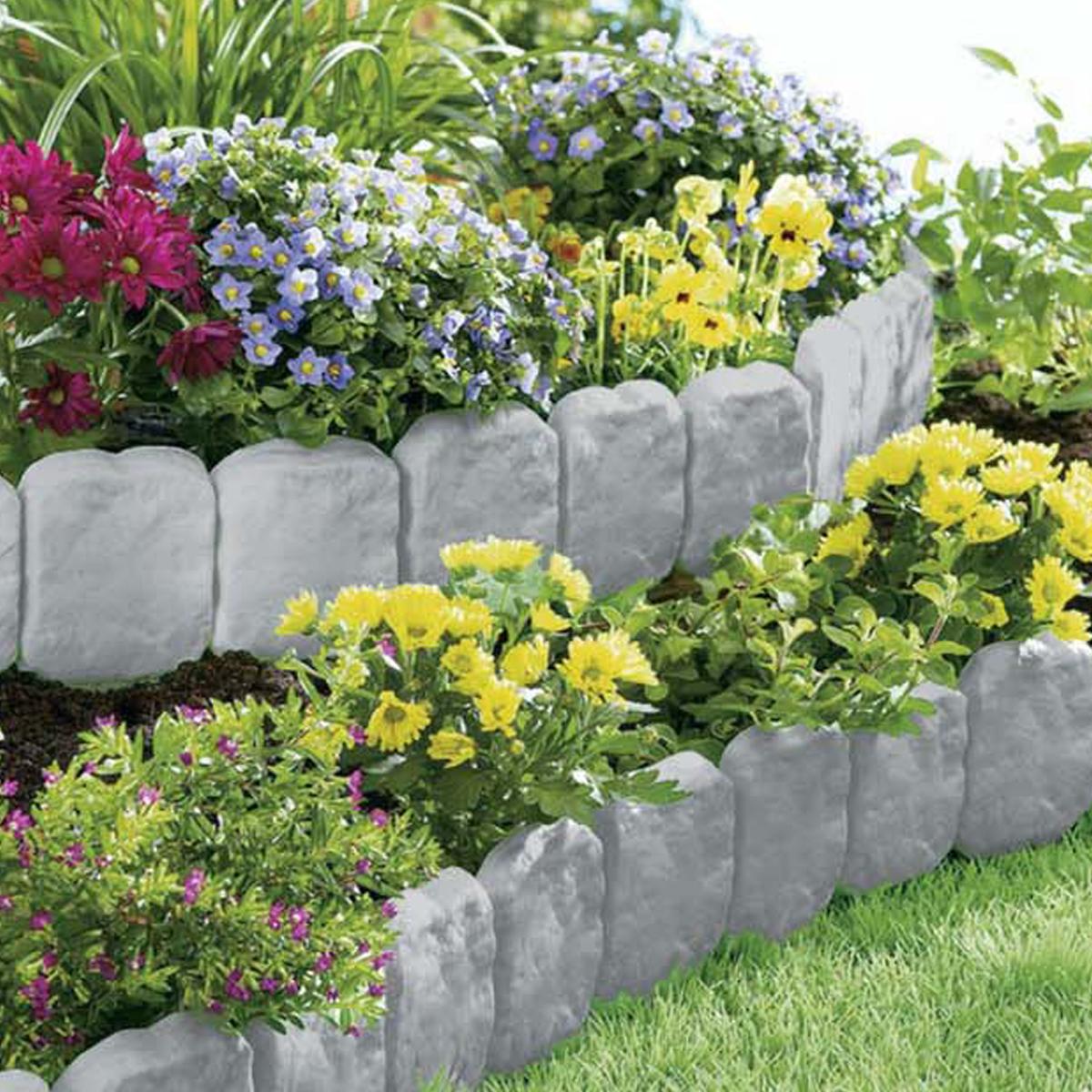 Stone flower bed border stone flower bed clia net for for Flower garden borders