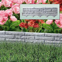 Grey Brick Wall Garden Edging