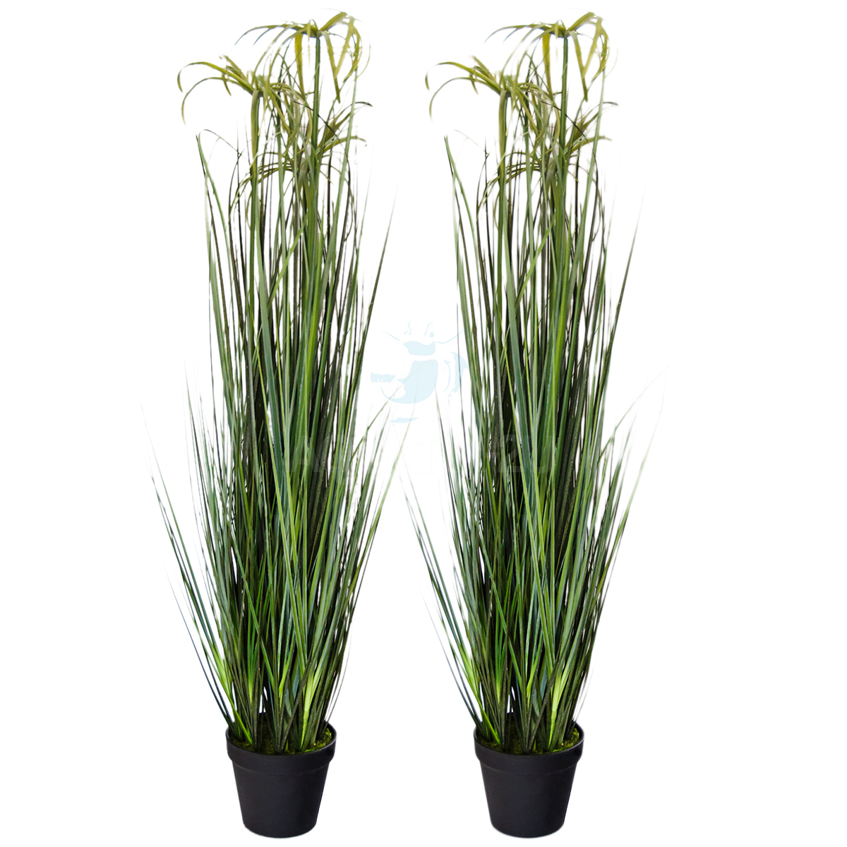 2x tall artifical fake papyrus pond reed plants in pots for Fake pond plants