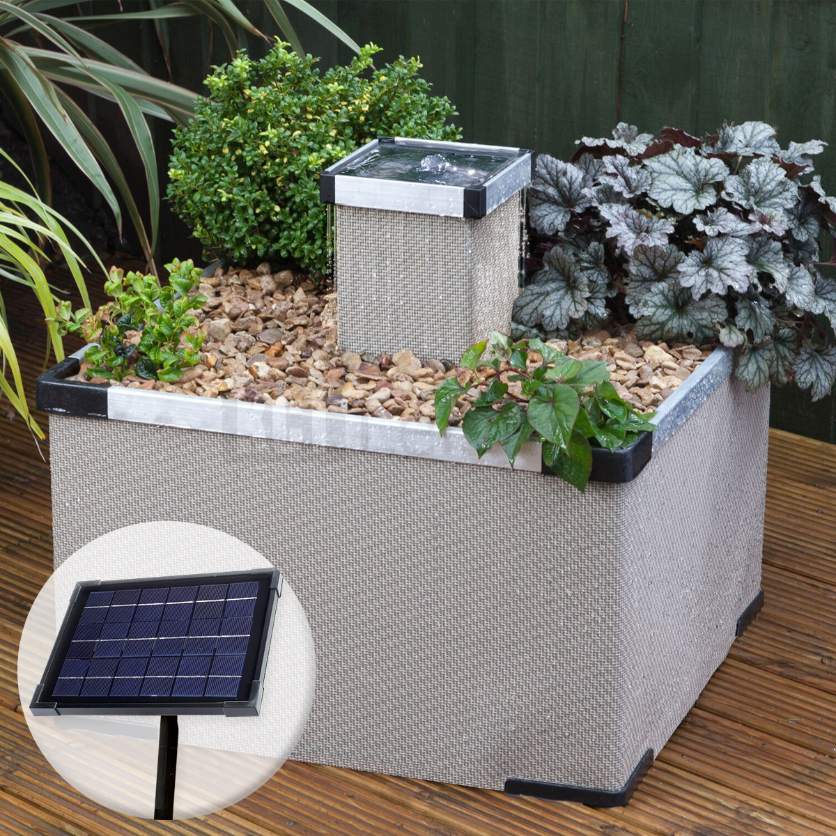 Blagdon Sand Liberty Planter Amp 5w Solar Panel Water