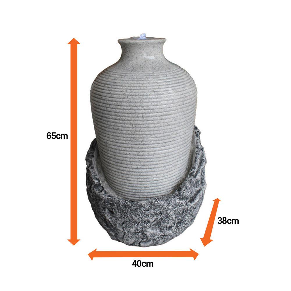 Velda Victoria Vase On Rock Outdoor Water Feature