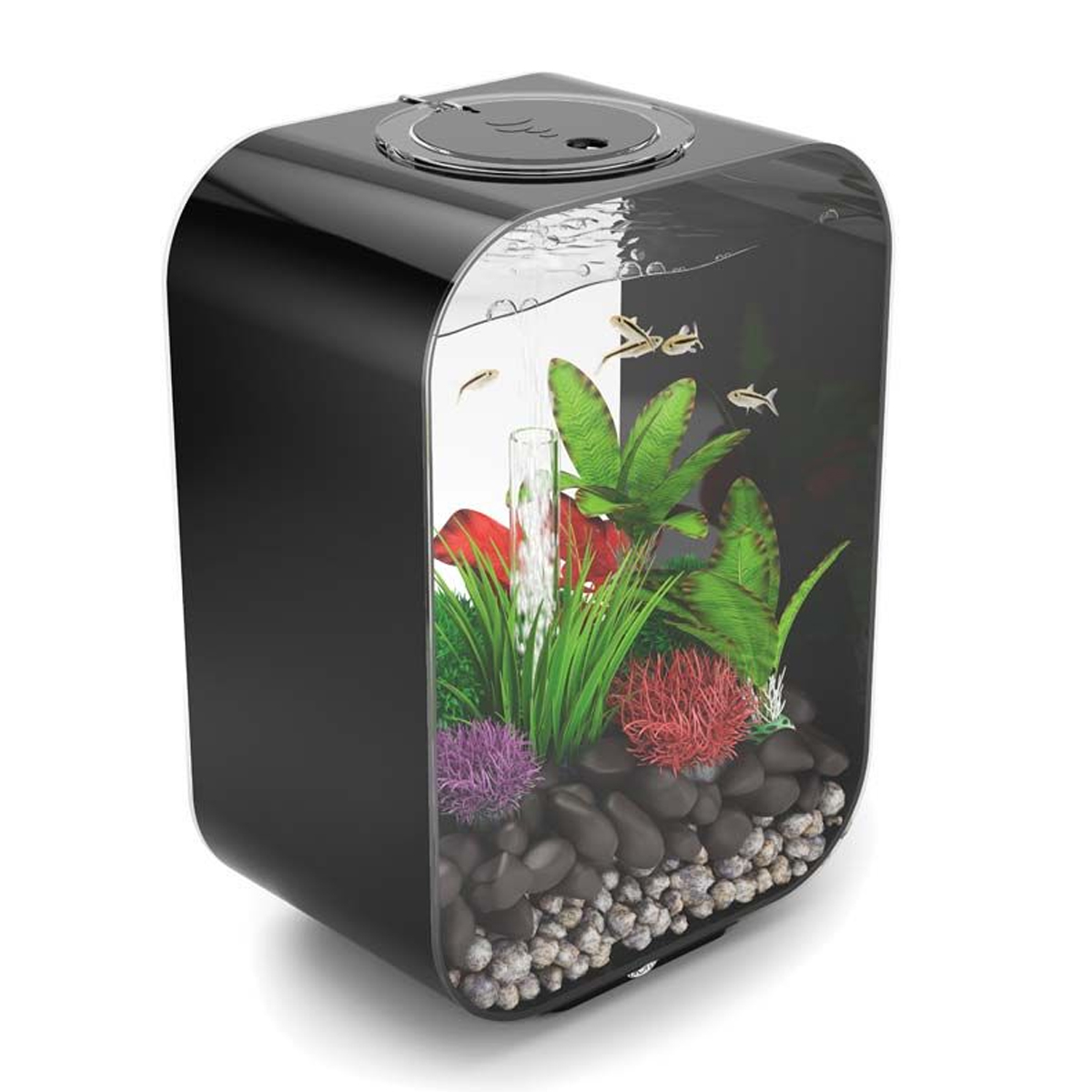 biorb life 15l black aquarium with standard led lighting. Black Bedroom Furniture Sets. Home Design Ideas