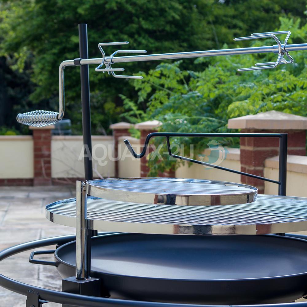 Outdoor Bbq Kitchen Ideas: Outdoor BBQ Grill With Rotisserie