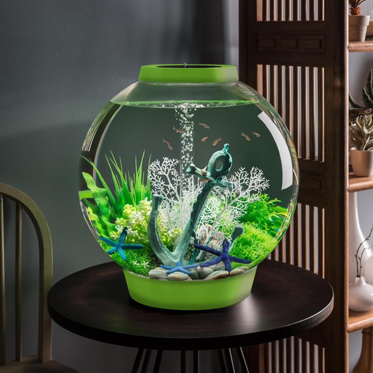 Biorb classic 60l leaf green aquarium led lighting acrylic for Fish tank bowl