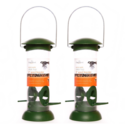 Twin Pack Chapelwood Click Top Seed Bird Feeder 8 Inch