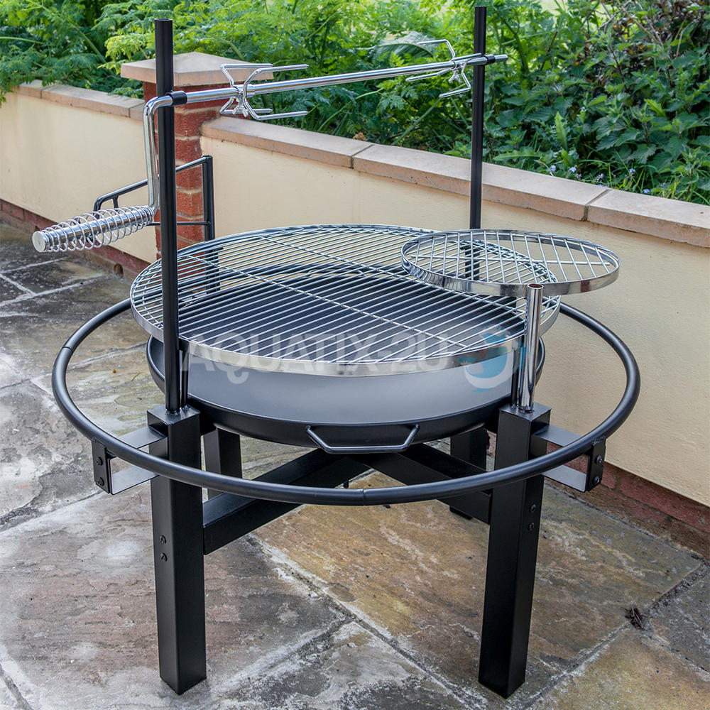 outdoor round bbq grill with rotisserie and tool set. Black Bedroom Furniture Sets. Home Design Ideas