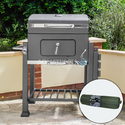 Deluxe Charcoal BBQ Grill + Weatherproof Cover