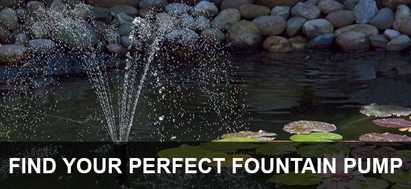 The largest selection of fountain pumps, from all the top brands including Oase, Hozelock and Fish Mate.