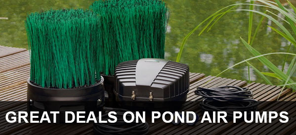 Keep your Koi fish and aquatic plants healthy this summer with a pond air pump