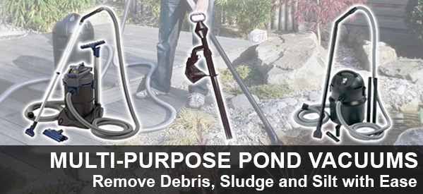 Pond Vaccums, Silt Vacs and pond maintenance products from Aquatix-2u
