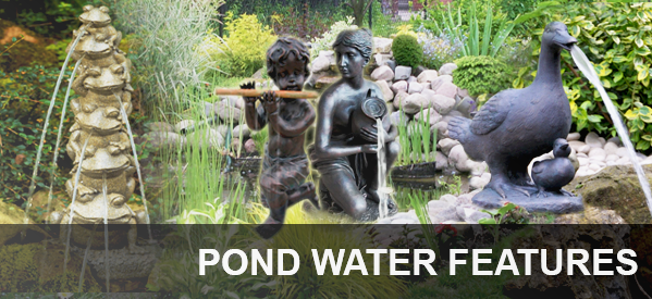 Water Spitters, fountains and statues