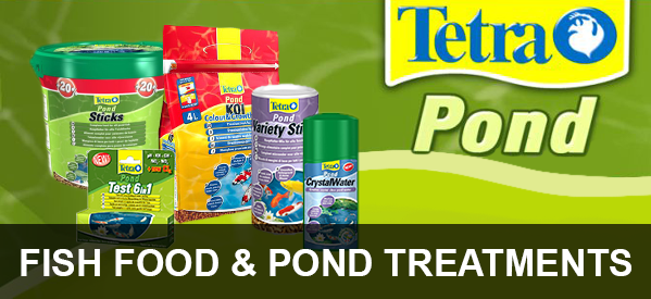 Fish Food, Pond Treatments and Test Kits