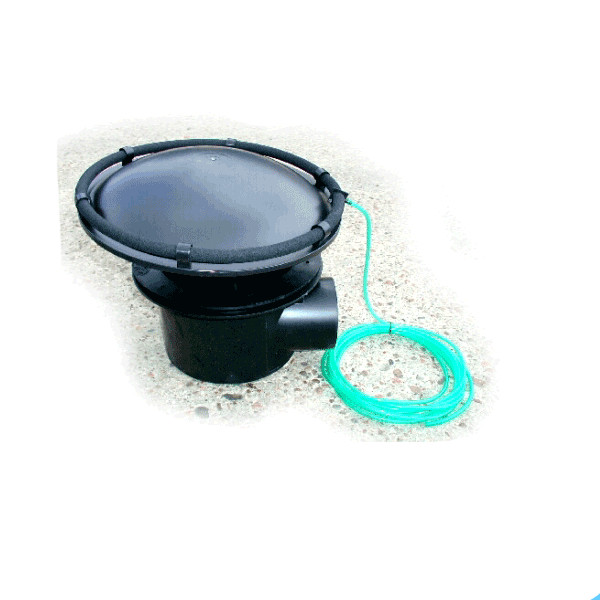 Cloverleaf aerated bottom drain 110mm air ring sump koi for Pond drain pump