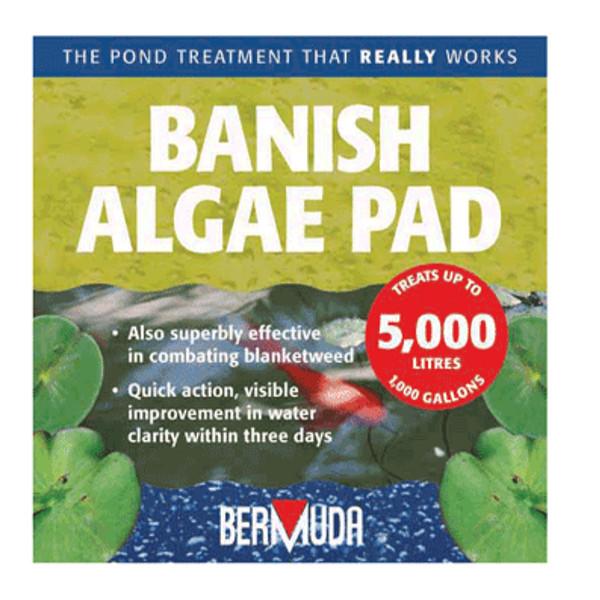 Bermuda banish algae pad pond water treatment koi fish blanketweed green water ebay Green fish pond water
