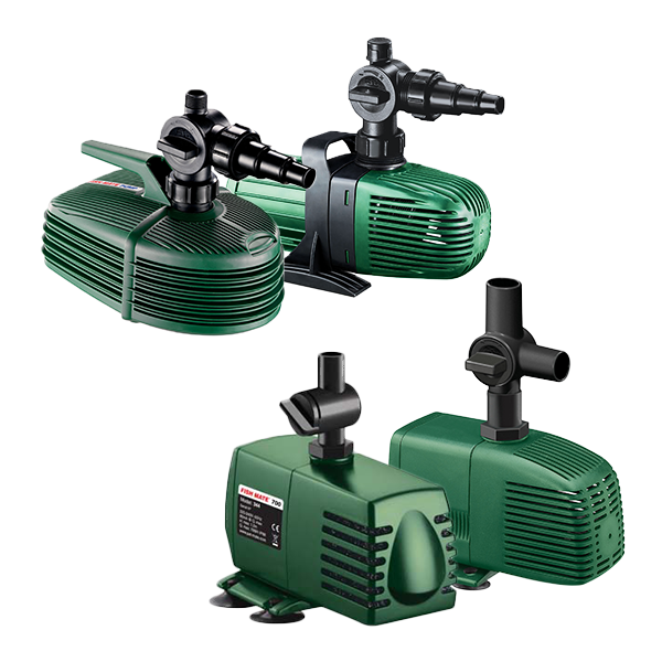 Fish mate pond filter pumps all models water fountain for Pond pump design