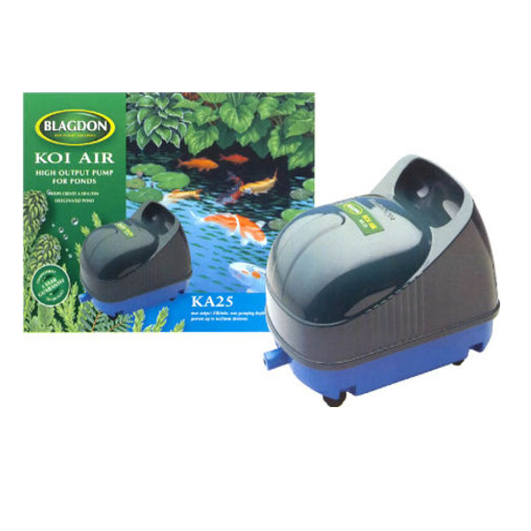 Blagdon koi air 25 fish pond pump ka25 1500 lph water for Pool pump for koi pond