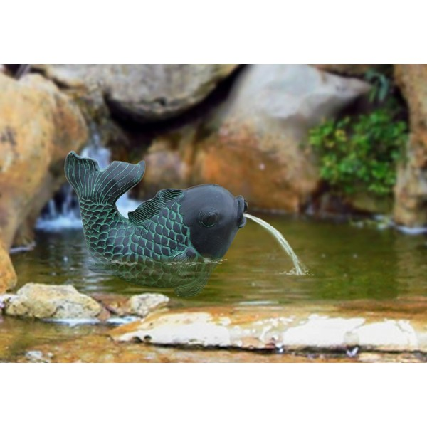 Bermuda Fish Pond Water Spitter Feature Fountain Statue