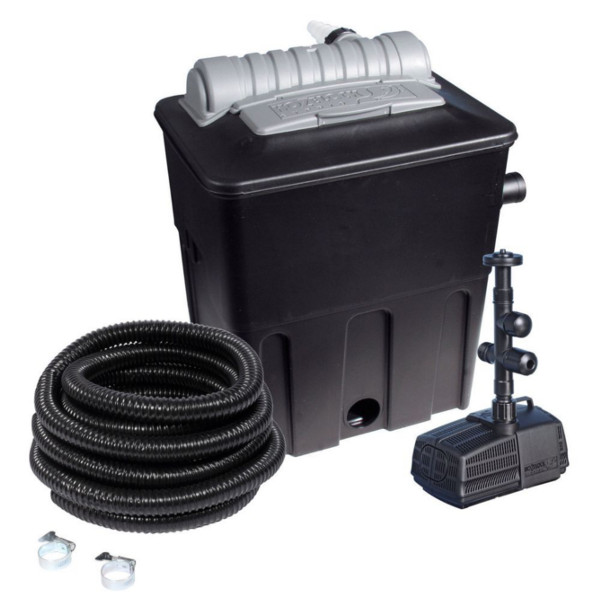 Hozelock ecopower 2500 combi kit with uvc ecopower pond for Pond pump and filter combined