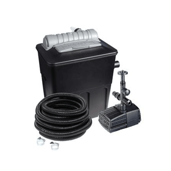 Hozelock ecopower 5000 combi kit with uvc ecopower pond for Pond pump and filter combined