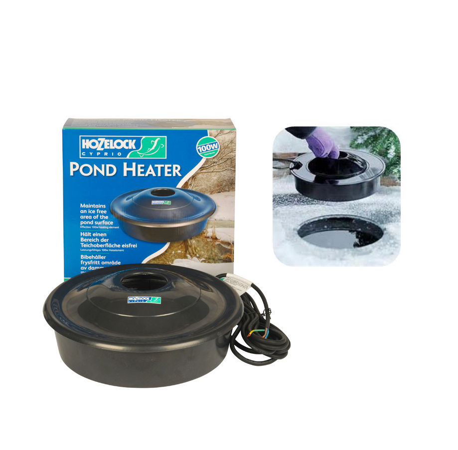 hozelock floating dome fish pond heater de icer winter