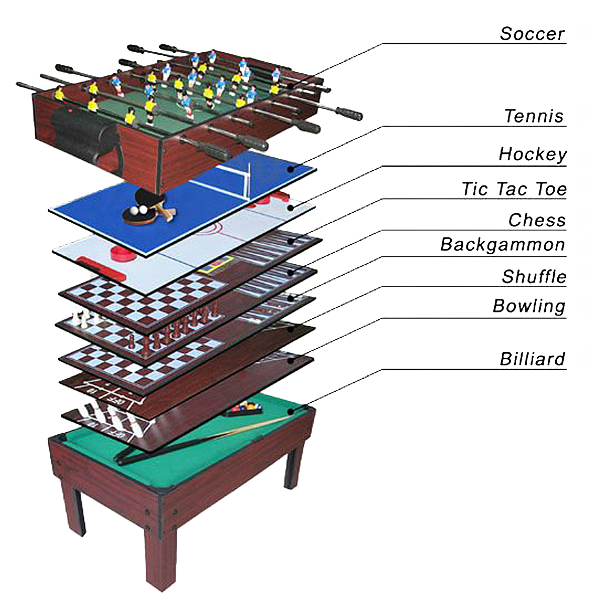 9 in 1 multi games table football basketball hockey tennis