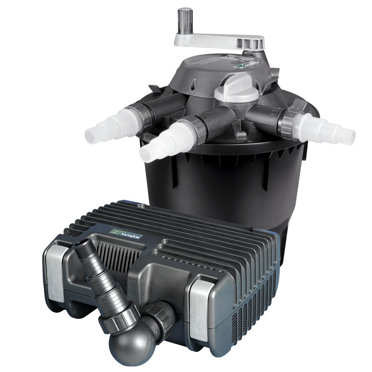 Hozelock bioforce revolution 9000 uv pond pressure filter for Pond pump and filter system