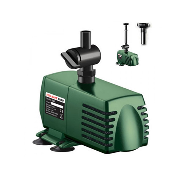 Fish mate 1500 garden pond pump for water fountain and for Fish pond pumps