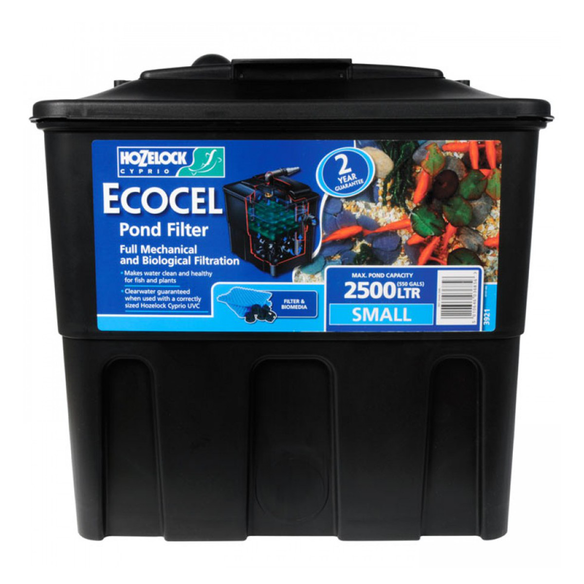 Hozelock ecocel garden pond water filter systems koi for Pond water filtration systems