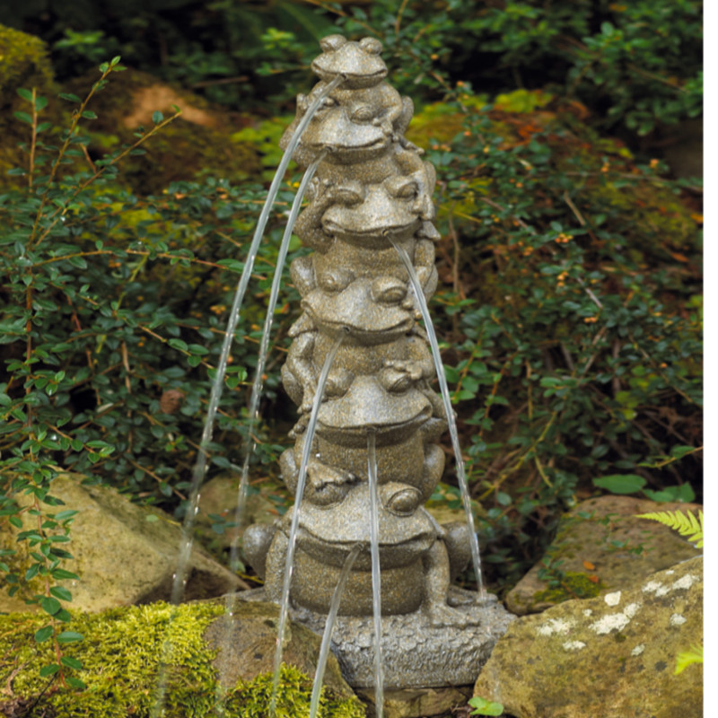 Bermuda frog tower spitter outdoor garden pond water for Garden pond ornaments uk
