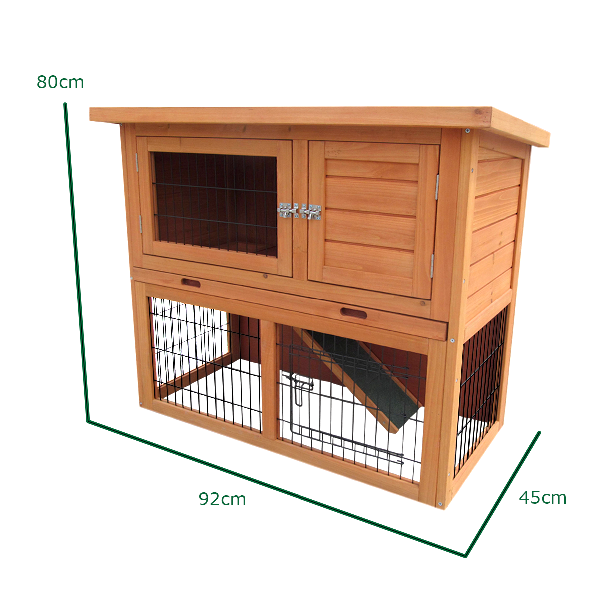 3ft outdoor rabbit hutch and run with 2 two tier wooden for 2 rabbit hutch