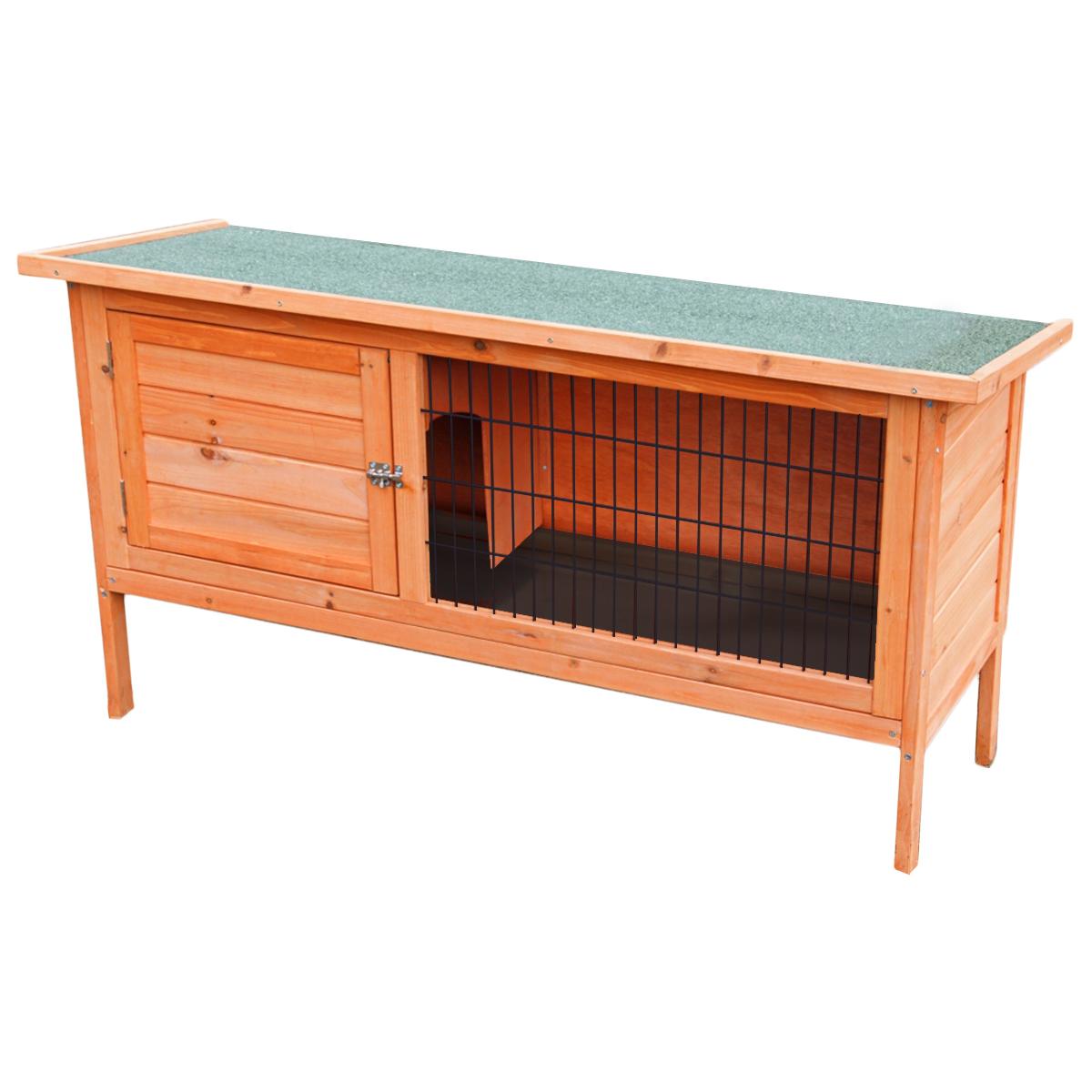 Large 4ft wooden single rabbit hutch pet indoor outdoor for Outdoor guinea pig hutch