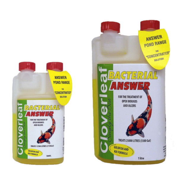 Cloverleaf bacterial answer pond treatment koi goldfish for Koi treatment