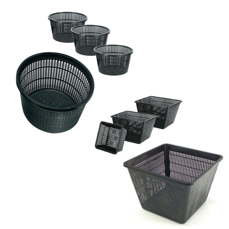 Garden pond plastic planting baskets aquatic planter pots for Pond filter basket