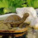 Bermuda Tortoise Water Spitter