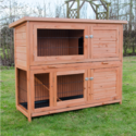 Milan Large Two Tier Rabbit Hutch with Enclosed Run - Pisces
