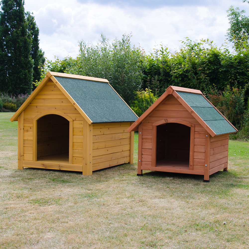 OXFORD DOG KENNEL WOODEN PET HOUSE APEX ROOF OUTDOOR ...
