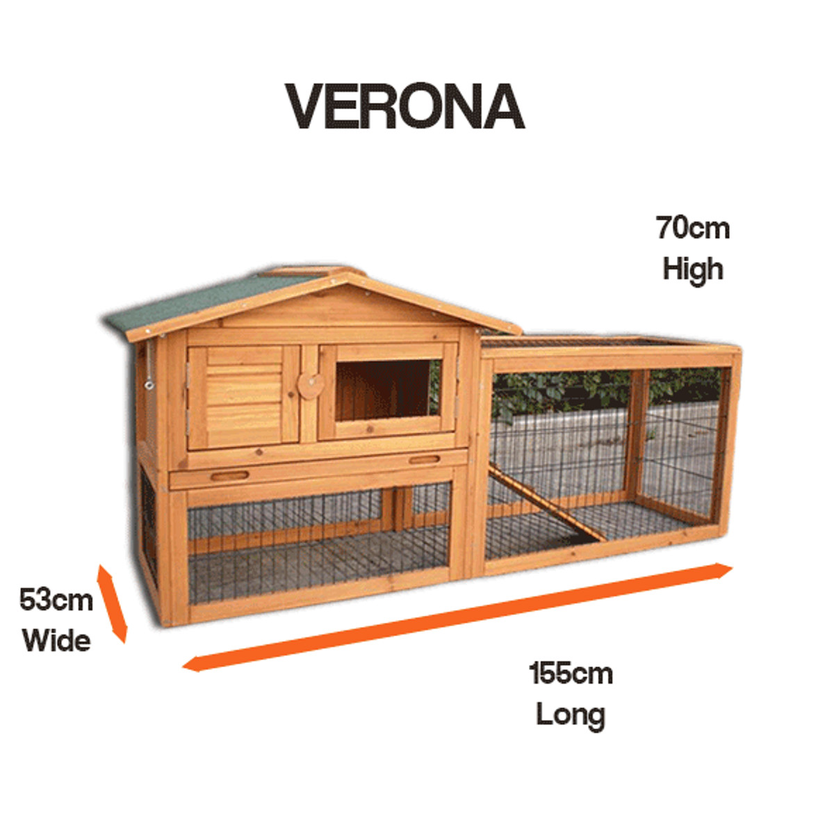 Large wooden rabbit and guinea pig pet hutch 2 tier house for Free guinea pig hutch