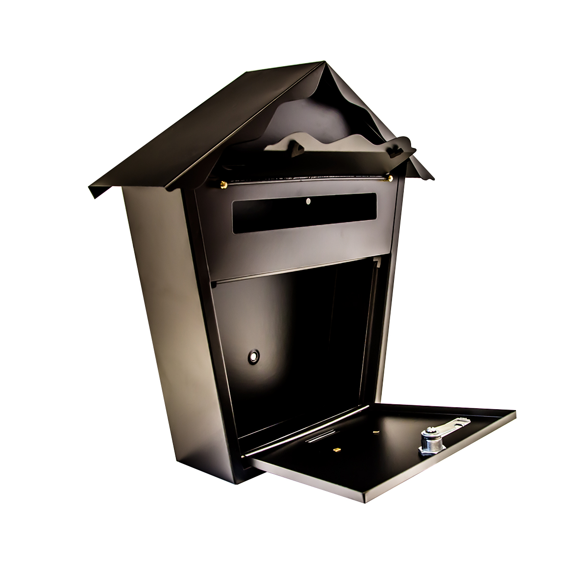 Mailbox stainless steel locking mail box letterbox postal box modern - Sentinel Secure Metal Home Outdoor Mail Post Letter Box Wall Mounted Lockable With Key