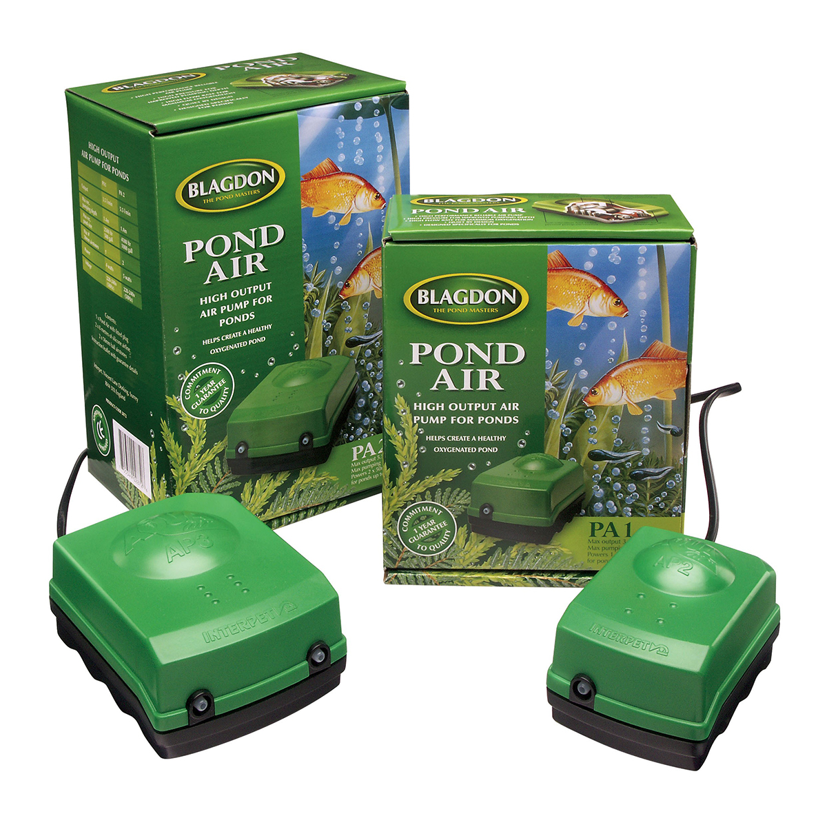 blagdon interpet pond air pump system aeration oxygen koi
