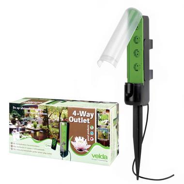 Velda 4 Way Outdoor Socket with Remote Control