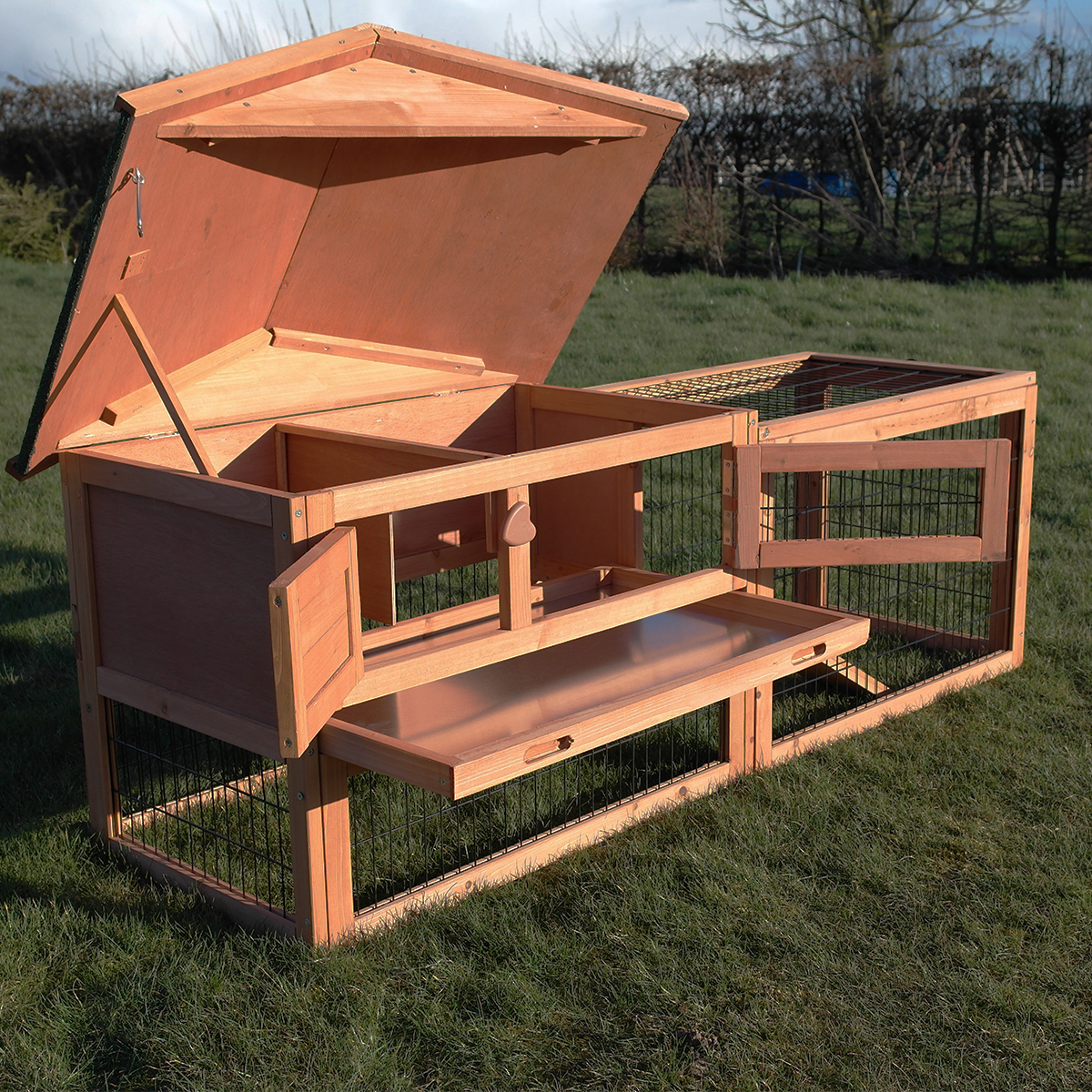 two tier verona rabbit hutch with run house for pet