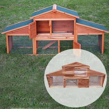 Rome Rabbit Hutch with Cover - Pisces