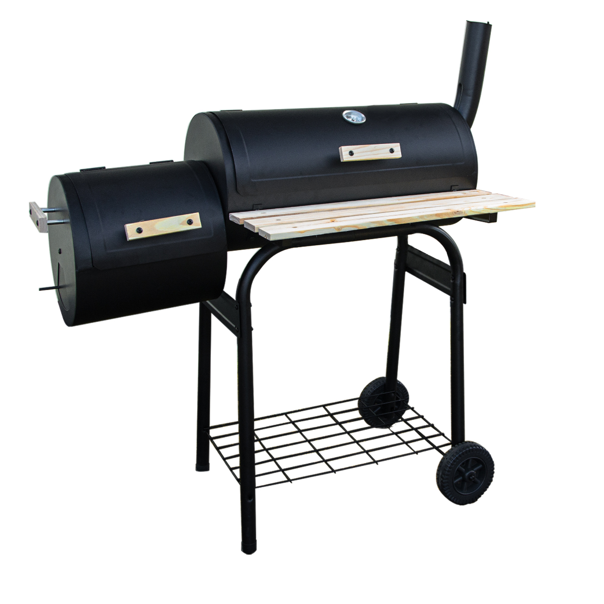 large oil drum barrel style bbq smoker cart barbeque meat food smoking cooking. Black Bedroom Furniture Sets. Home Design Ideas