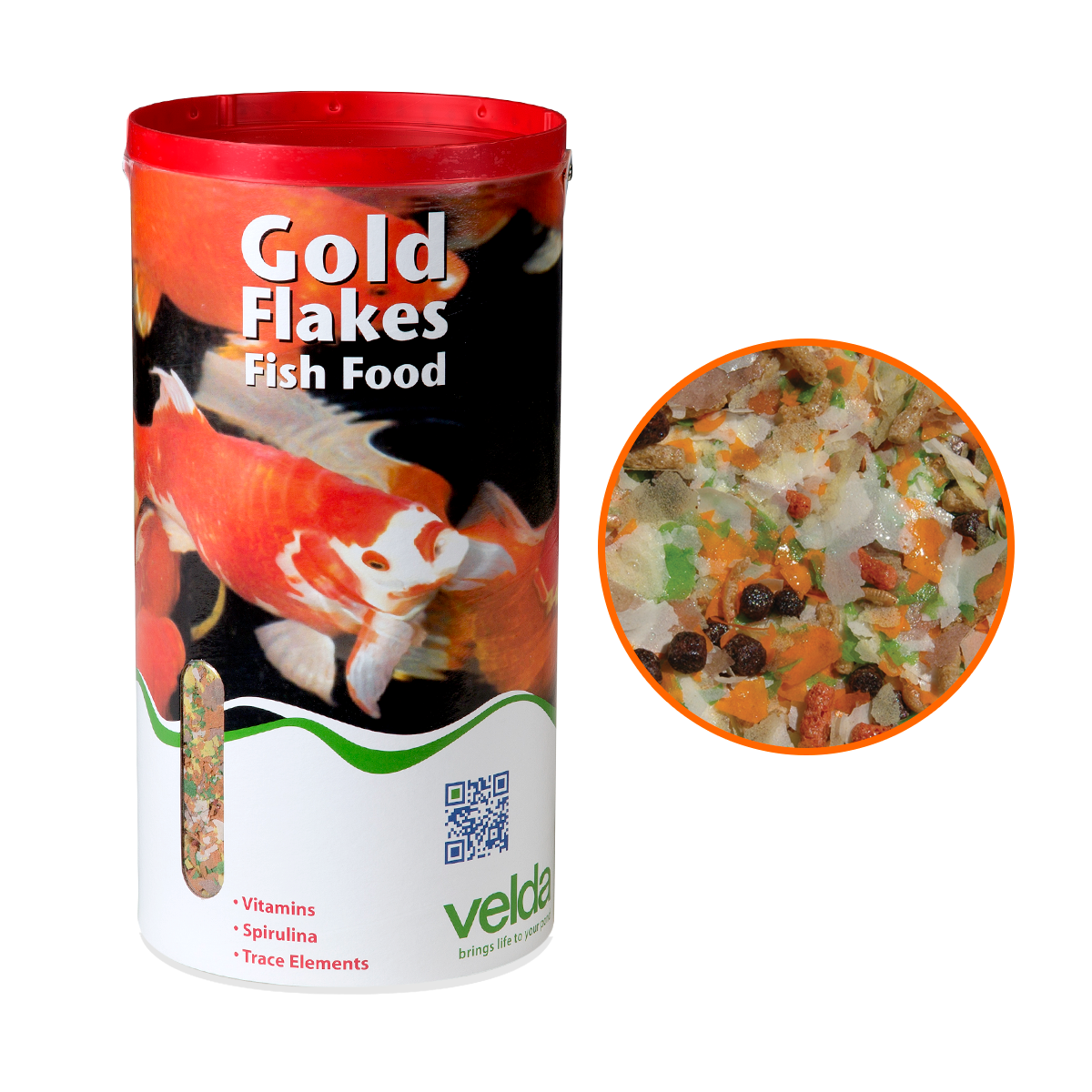 8 litres 900g velda gold flakes floating pond fish food for Fish food flakes