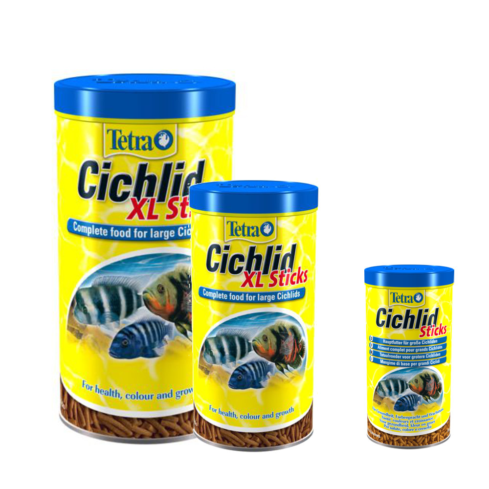 Tetra aquarium cichlid sticks and xl sticks fish food for Tetra cichlid sticks
