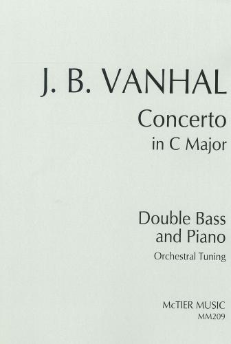 Vanhal: Concerto in C Major (Orchestral Tuning) (Double Bass & Piano) MM209