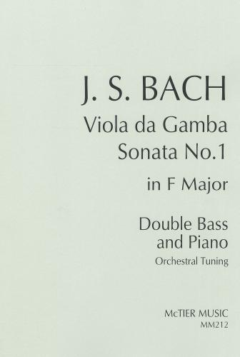 Bach: Viola da Gamba Sonata No. 1 Orchestral Tuning Double Bass & Piano MM212