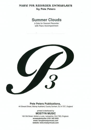 Peters: Summer Clouds (Recorder Solo) MOST-101